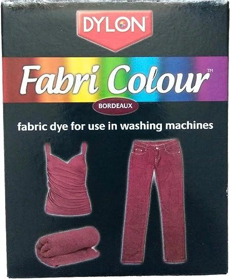 Dylon Fabri color tinte para lavadora – burdeos (rojo) tela ...