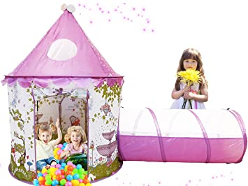Aeroway Sunroof Princess Castle Play Tent with Tunnel and Case - Pink  sc 1 st  Amazon.com & Amazon.com: Aeroway Sunroof Princess Castle Play Tent with Tunnel ...