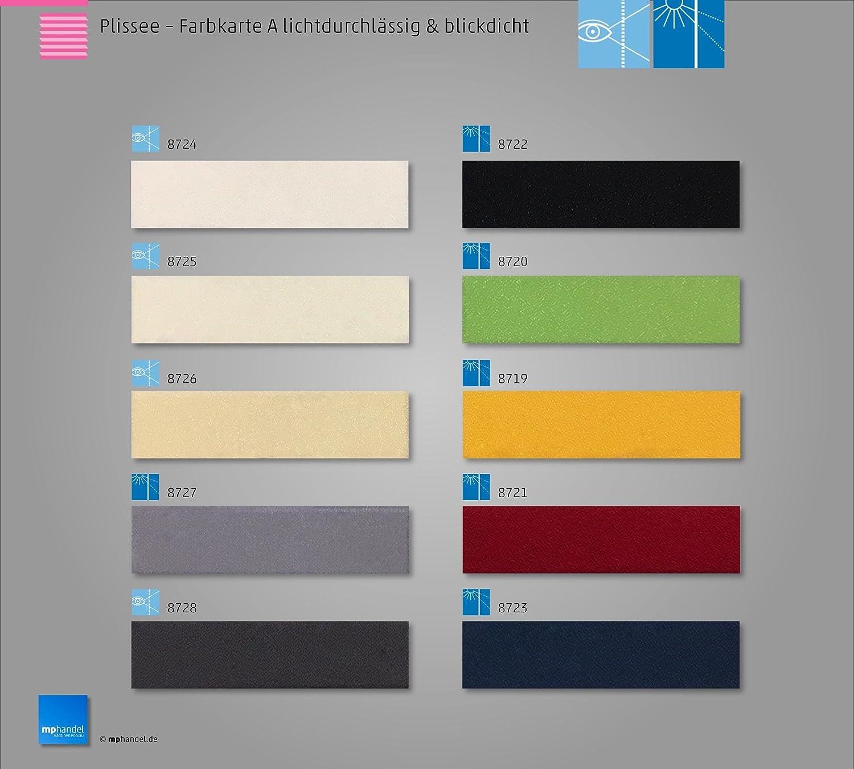 Sun collection Plissee Faltstore, lichtdurchlässig und Blickdicht, Profilfarbe Silber Silber Silber mp (auch mit weißen Profilen erhältlich) B01E7L18C6 Seitenzug- & Springrollos 4e3035