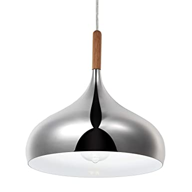 Modern Pendant Light, Lika Industrial Hanging Mirror Finish Sleek Lighting Fixture for Kitchen Island, Bedroom, Dining Room