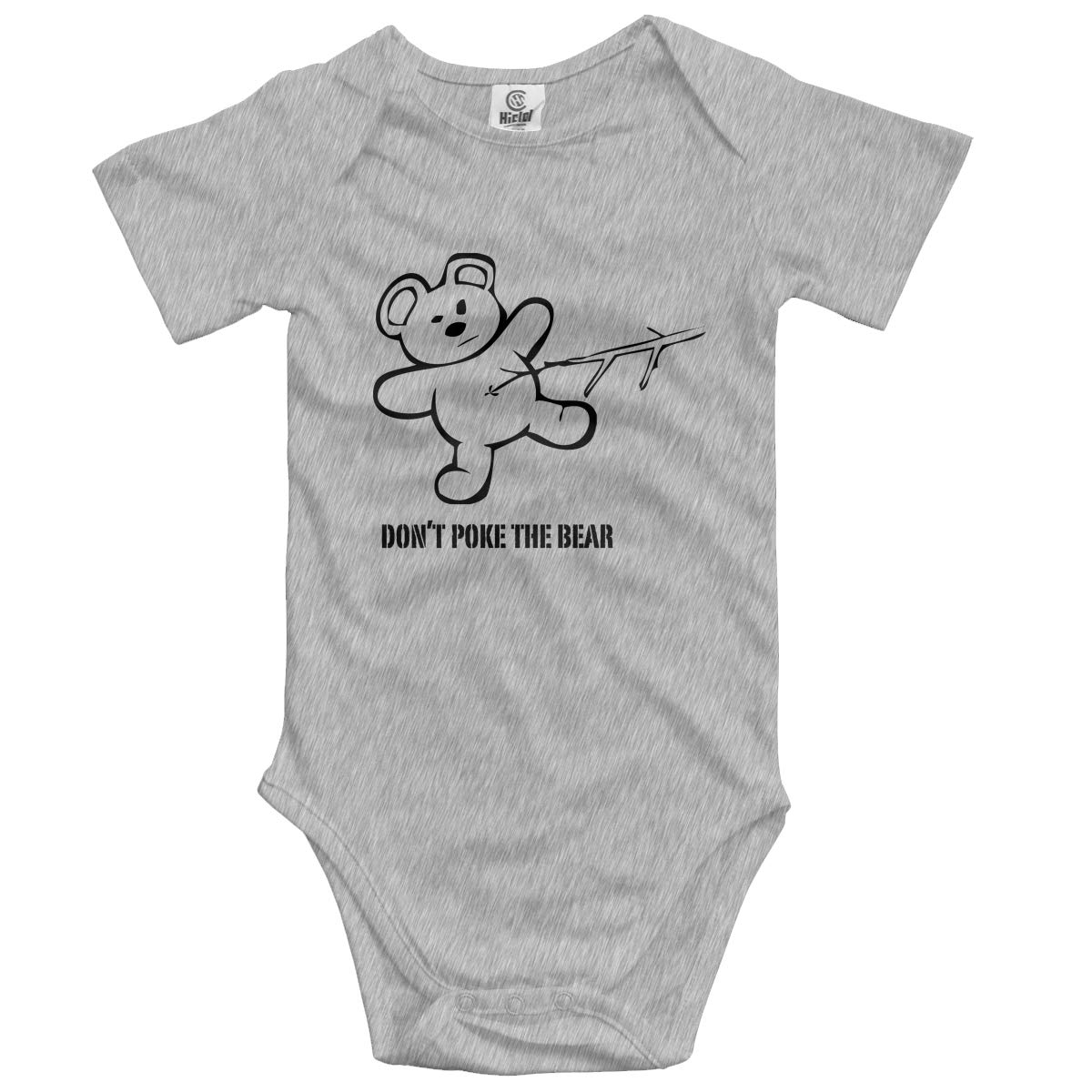 FAFU/&SKY Dont Poke The Bear Newbaby Baby Romper Summer Short Sleeve Jumpsuit Funny Gift