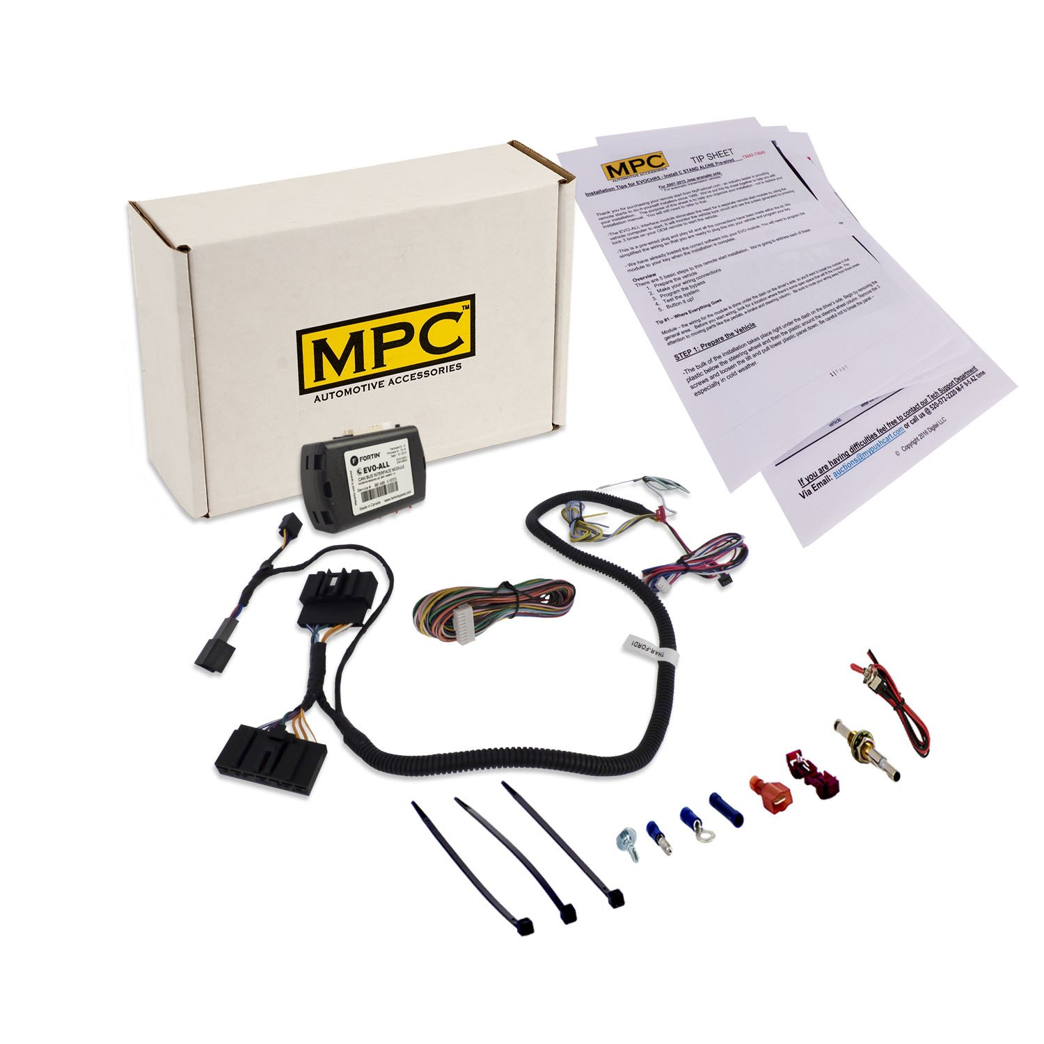 Mpc 2380 Factory Fob Activated Remote Start Kit For 2012 Ford Edge Wiring Diagram Select Lincoln Vehicles 2011 2016 Includes A T Harness To Simplify Installation