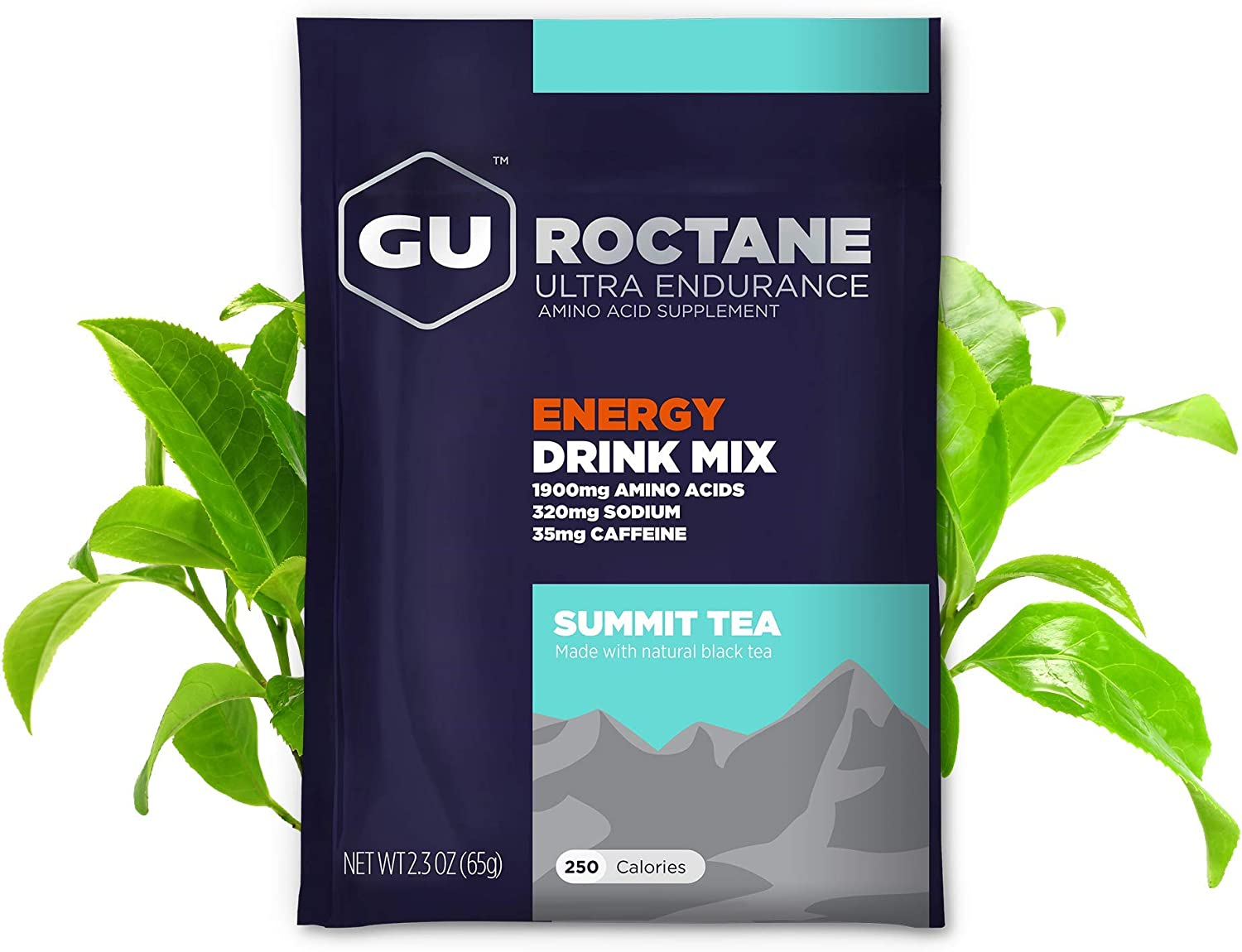 GU Energy Roctane Ultra Endurance Energy Drink Mix, 10 Single-Serving Packets, Summit Tea (Packaging May Vary)