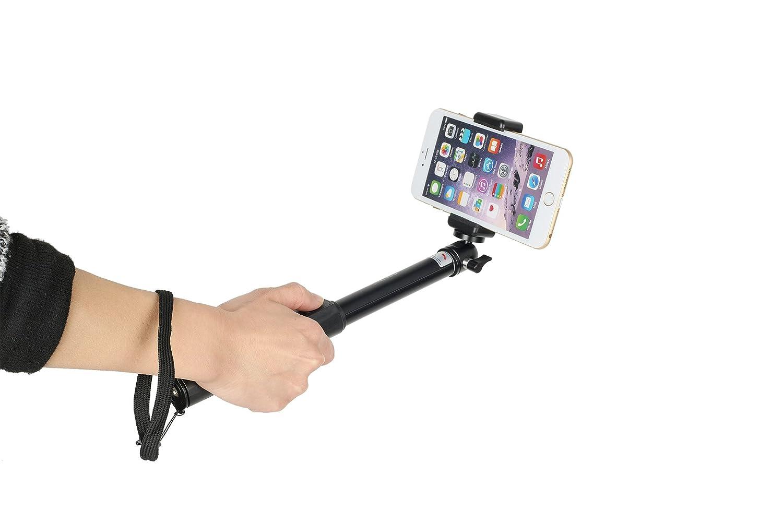 1m selfie stick teleskopstange mit integrierter: amazon.de: kamera