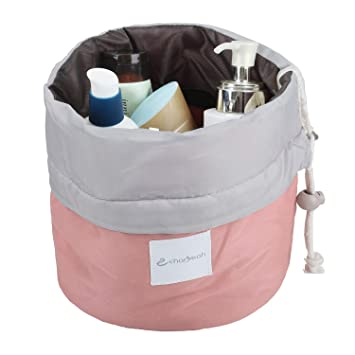 4a64b8eb3cfa Zoevan Waterproof Cosmetic Bags Makeup Bag Travel Barrel Cases Kit  Organizer Bathroom Storage Carry...