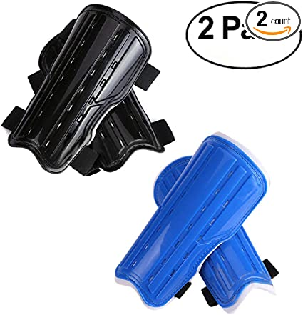Kids Soccer Shin Guards Board Boys 2 Pairs Youth Child Soccer Shin Pads Teenagers Girls Perforated Breathable /& Protective Gear Perfect Fit for 6-12 Years Old Kids