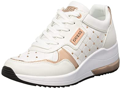 pretty nice ccc50 98f32 Guess Damen Janetta/Active Lady/Leather Li Sneaker: Amazon ...