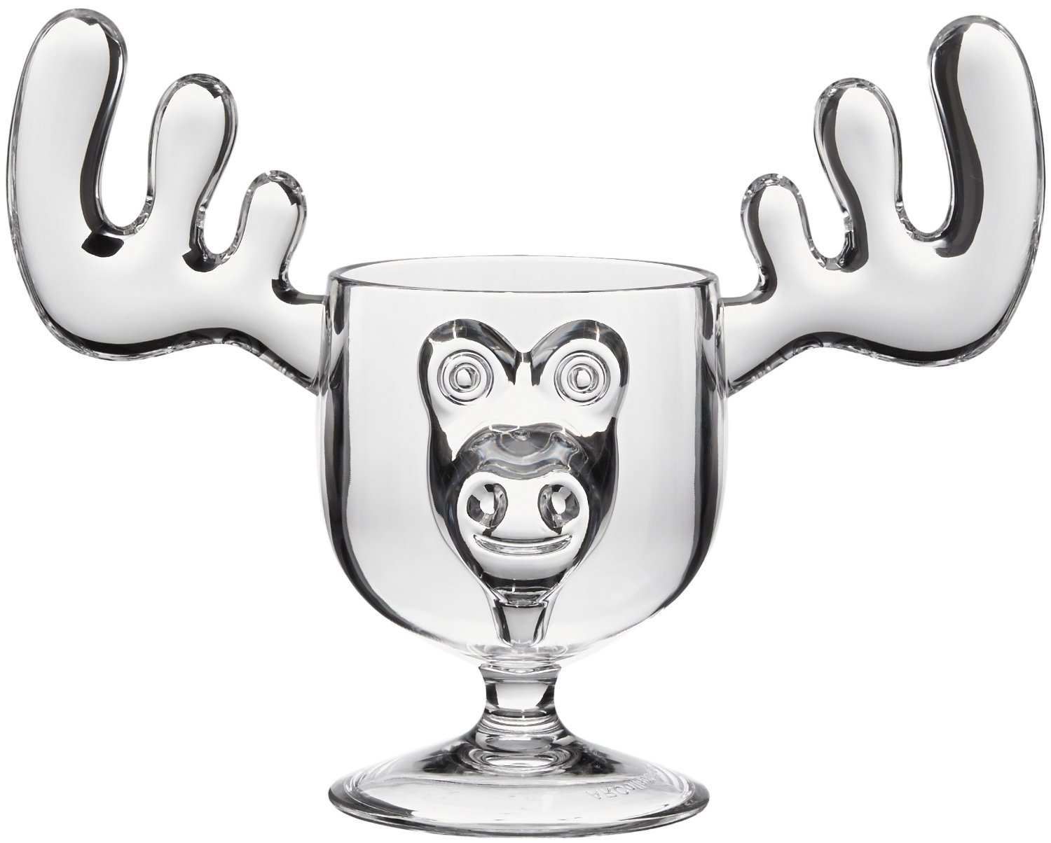 Christmas Moose Mug Punch Bowl Set with 8 Moose Mugs - Safer Than Glass