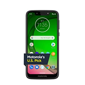 Moto G7 Play with Alexa Push-to-Talk – Unlocked – 32 GB – Deep Indigo (US Warranty) – Verizon, AT&T, T–Mobile, Sprint, Boost, Cricket, & Metro