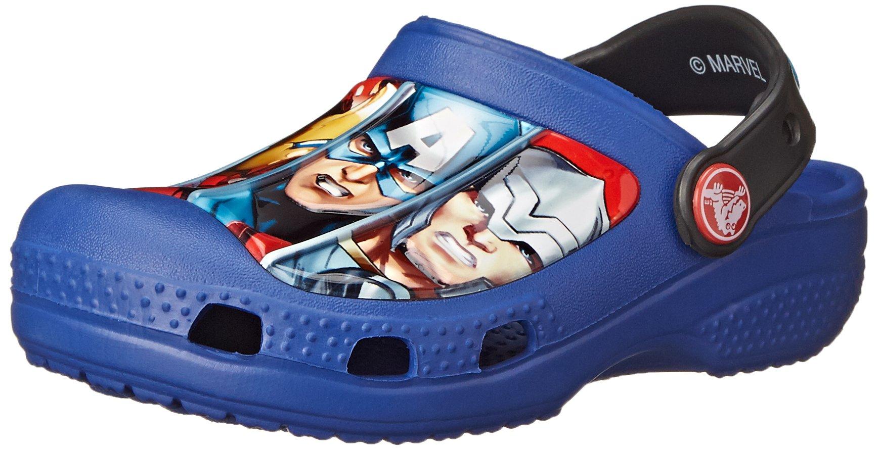 crocs Marvel Avengers III Clog (Toddler/Little Kid),Cerulean Blue,  8-9 M US Toddler