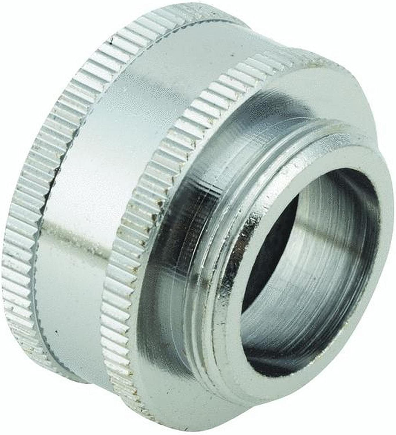 55/64 Male to 3/4 Female Hose Thread, Faucet to Hose Adapter