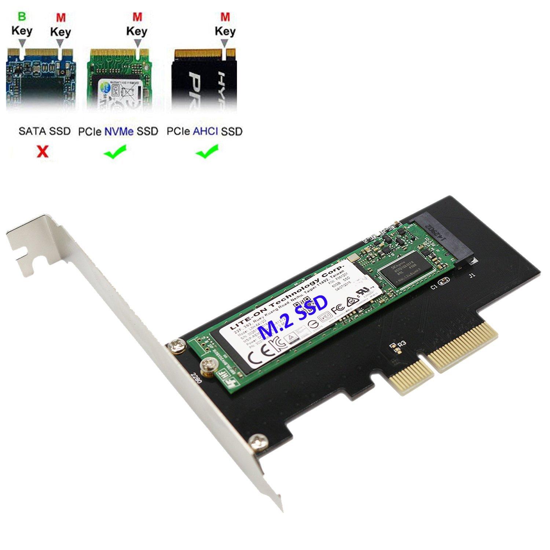 SNANSHI M.2 PCIe SSD Tarjeta Adaptador a PCI-E x4 para M.2 NGFF ...