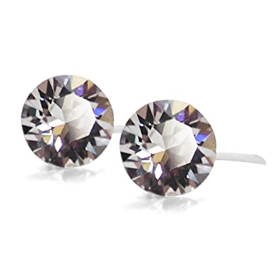 c30cf6495 Amazon.com: Swarovski Crystal Invisible Clip On Stud Earrings (4 mm ...