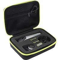 pour Philips QP6510/30 QP6520/30 QP6620/30 OneBlade Pro Dur Cas Voyage Etui Housse Sac Case by Khanka (Zip Jaune)