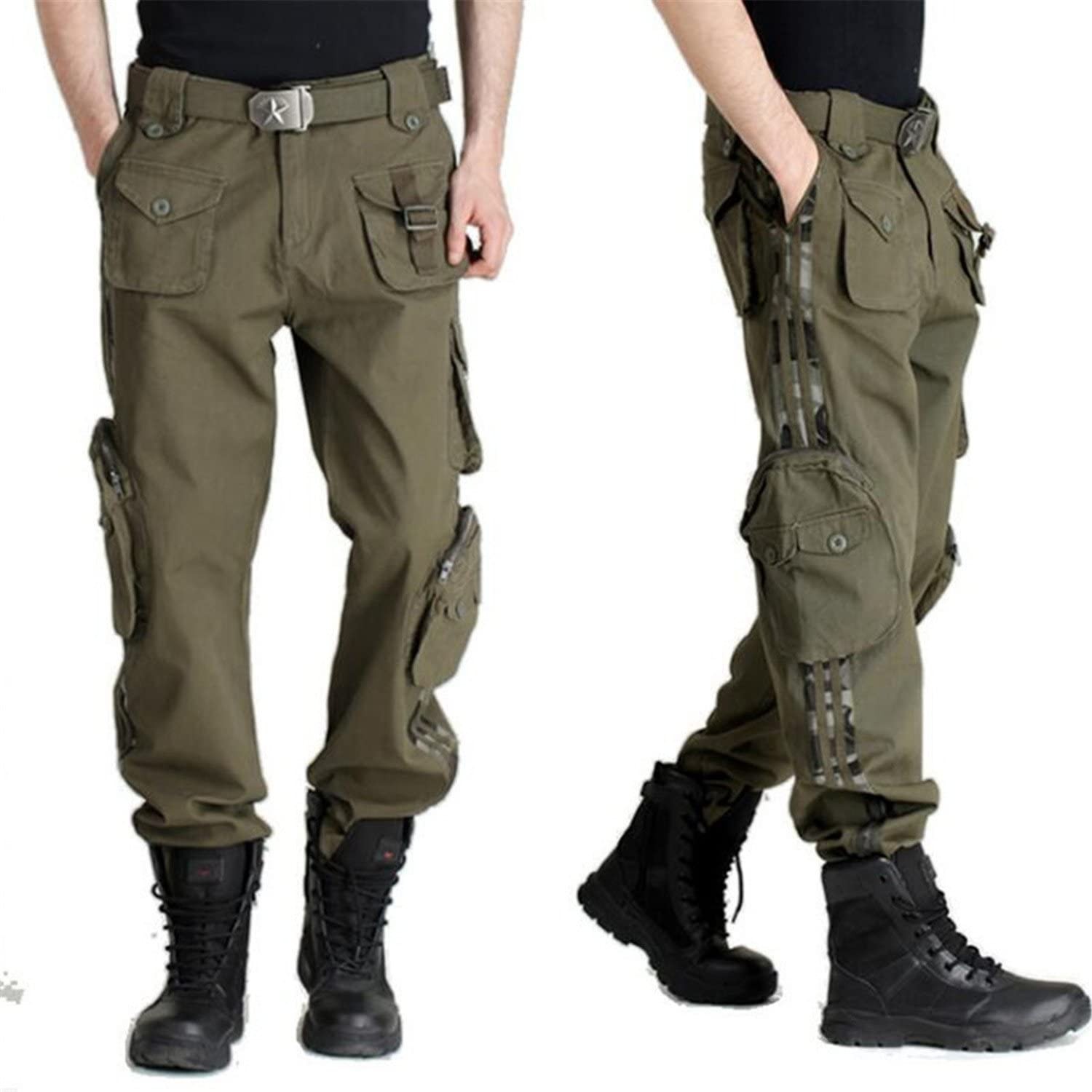 Welcometoo New Men Tactical Trousers Summer Military Tactical Pants Casual Loose Multi-Pockets Pants