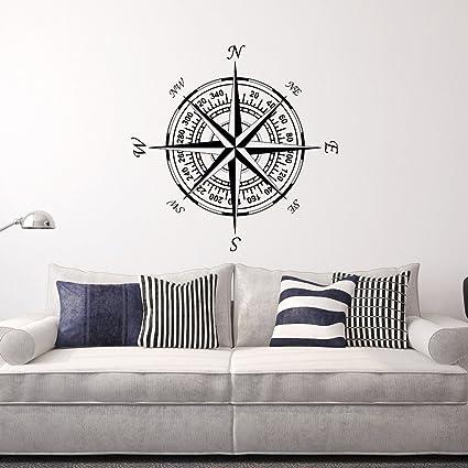 Amazon Com Compass Wall Decal Vinyl Stickers Nautical Decor