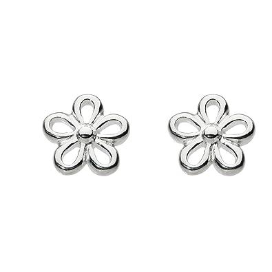 Dew Women's Sterling Silver Butterfly Stud Earrings rSyBcQSX7
