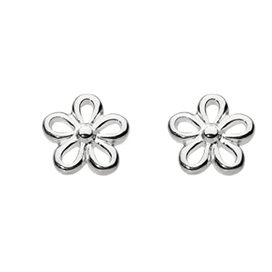 a4ea80c2f Dew Women's Sterling Silver Flower Stud Earrings: Amazon.co.uk: Jewellery