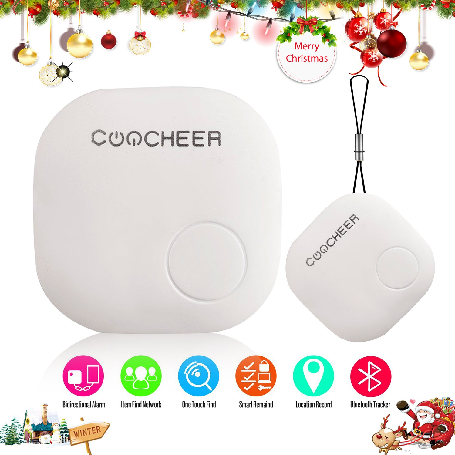 Key Finder, Smart Bluetooth Anti-Lost Locator Tracker Alarm Two-Way ...