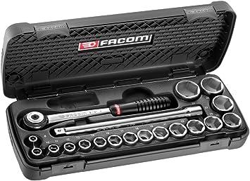 FACOM S.161.6PG - Estuche de llaves de vaso, trinquete y accesorios: Amazon.es: Bricolaje y herramientas