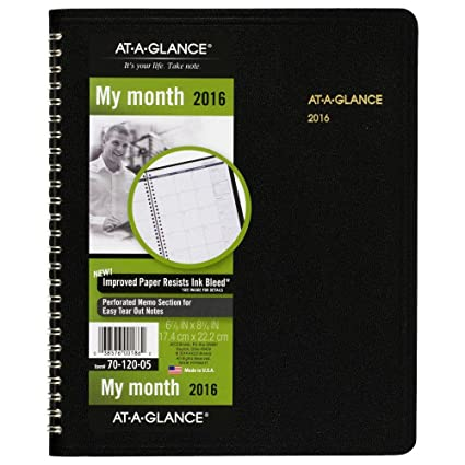 amazon com at a glance monthly planner 2016 12 months 6 88 x