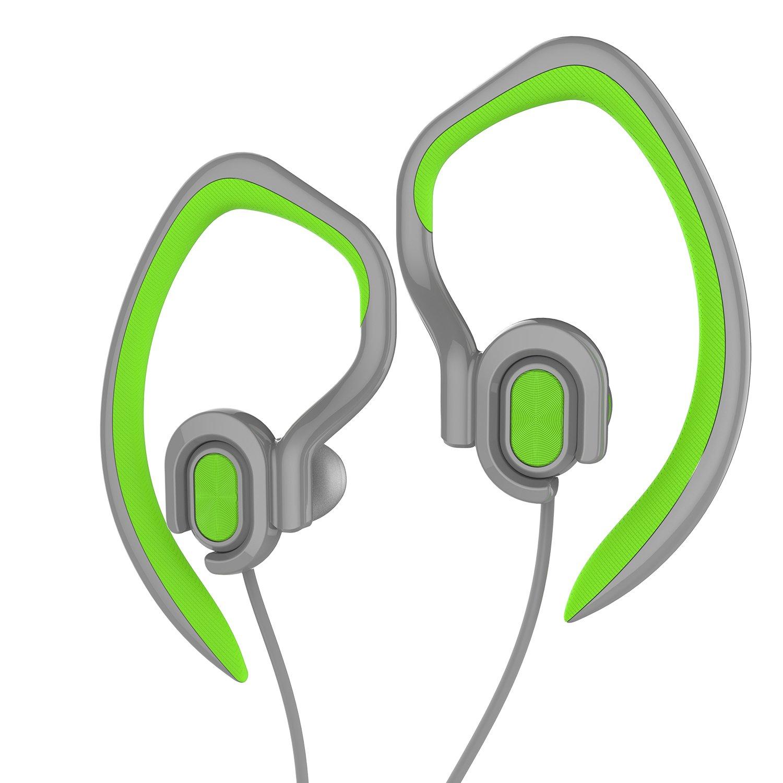 Sports Earhook Headphones Good Sound Waterproof Earphone Wholesale Popular Stereo 3.5mm Jack Headphone with Mic(Green)