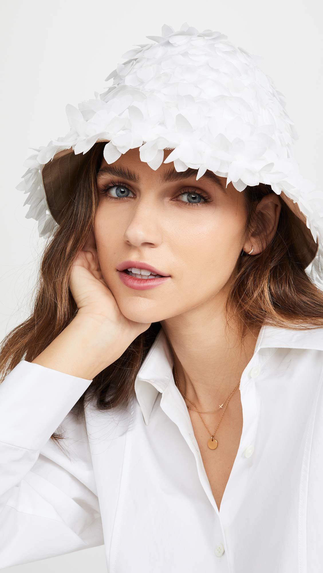 Eugenia Kim Women's Toby Bucket Hat, White, One Size by Eugenia Kim (Image #2)