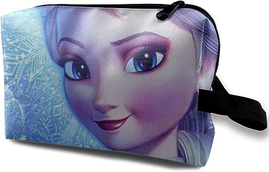 Frozen Elsa - Neceser de Viaje para Maquillaje, cosméticos, Bolsa de Aseo portátil para Mujer: Amazon.es: Equipaje