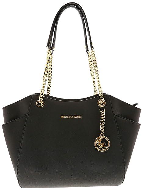 2557d7bfe6e6c Michael Kors Womens Handbag JET SET TRAVEL 35T5GTVT3L BLACK  Amazon ...
