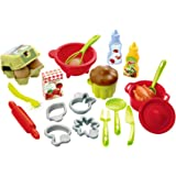 Ecoiffier - Pro Cook Accessories - Grey/Red/Green