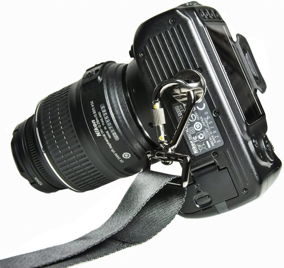 Quick Release Trigger Snap Hook Ring Carabiner Screw Lock Dslr Camera Strap MA