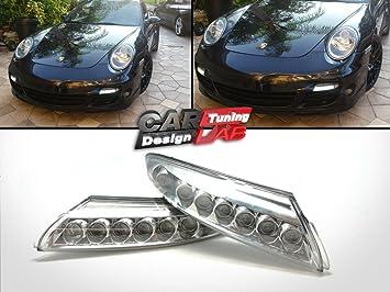 (2) luces LED DRL Daytime + ámbar intermitente para 07 - 12 997 911 GT2: Amazon.es: Coche y moto