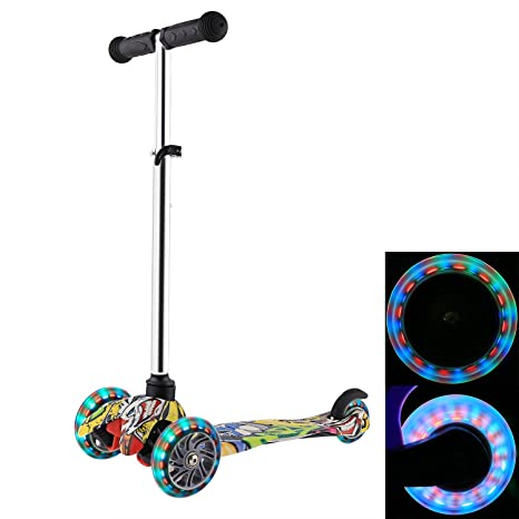 e59c4b4b08e6 Amazon.com : ANCHEER Kick Scooter for Kids with LED Wheels | Micro ...