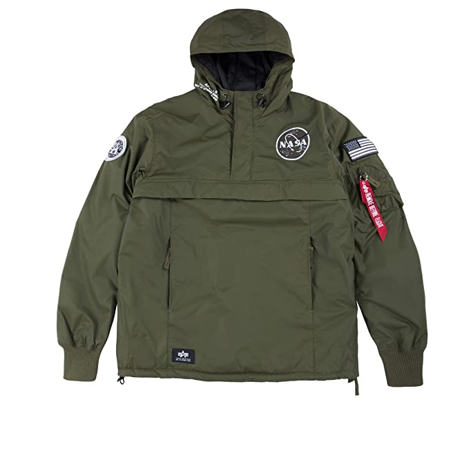 21503097d Alpha Industries Mens NASA Anorak Jacket 257 Dark Green L: Amazon.ca ...