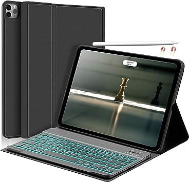 SENGBIRCH Funda con teclado para iPad Air 4 y iPad Pro 11 - Teclado iluminado con elegante funda compatible con iPad Air 10,9 2020 / iPad Pro 11 (1st ...