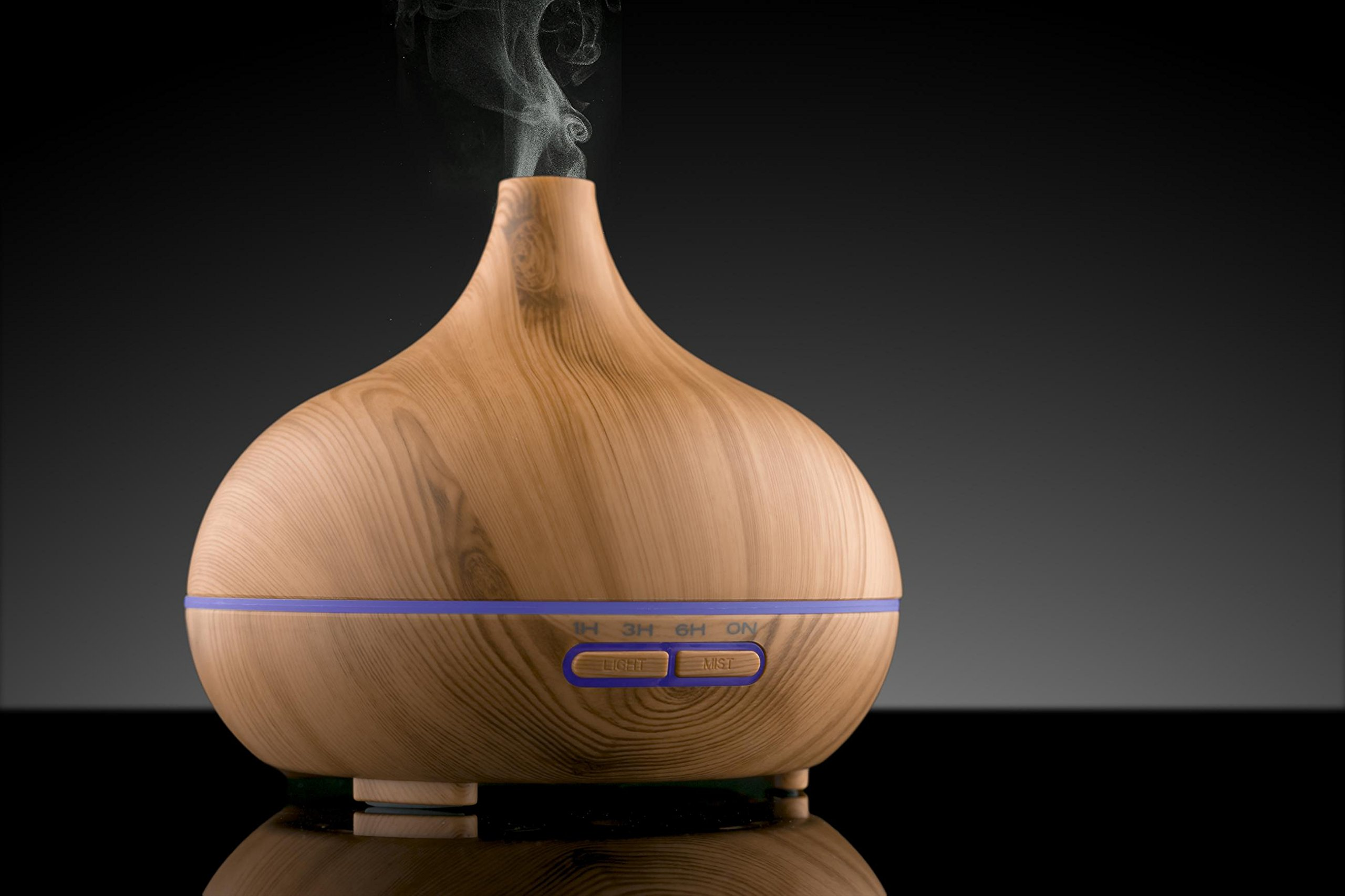 Asani Essential Oils Diffuser with 7 Color Changing LED Lights and High Capacity Tank   Humidifier, & Nightlight Function   Aromatherapy for Bedroom/Living Room/Office by Asani (Image #3)