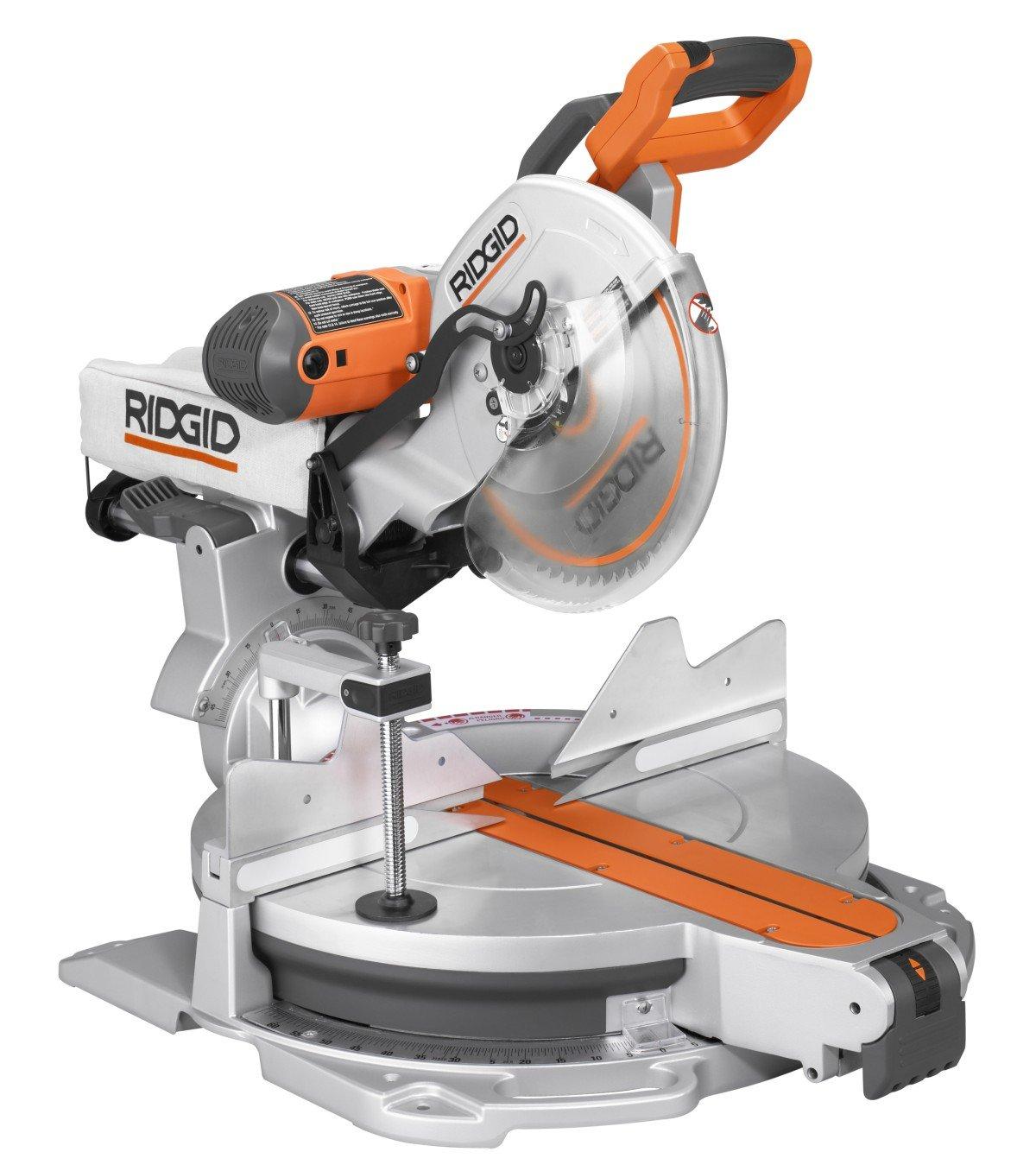 ridgid miter saw table. ridgid ms1290lza saw, 12-inch compound sliding miter with laser - power saws amazon.com saw table