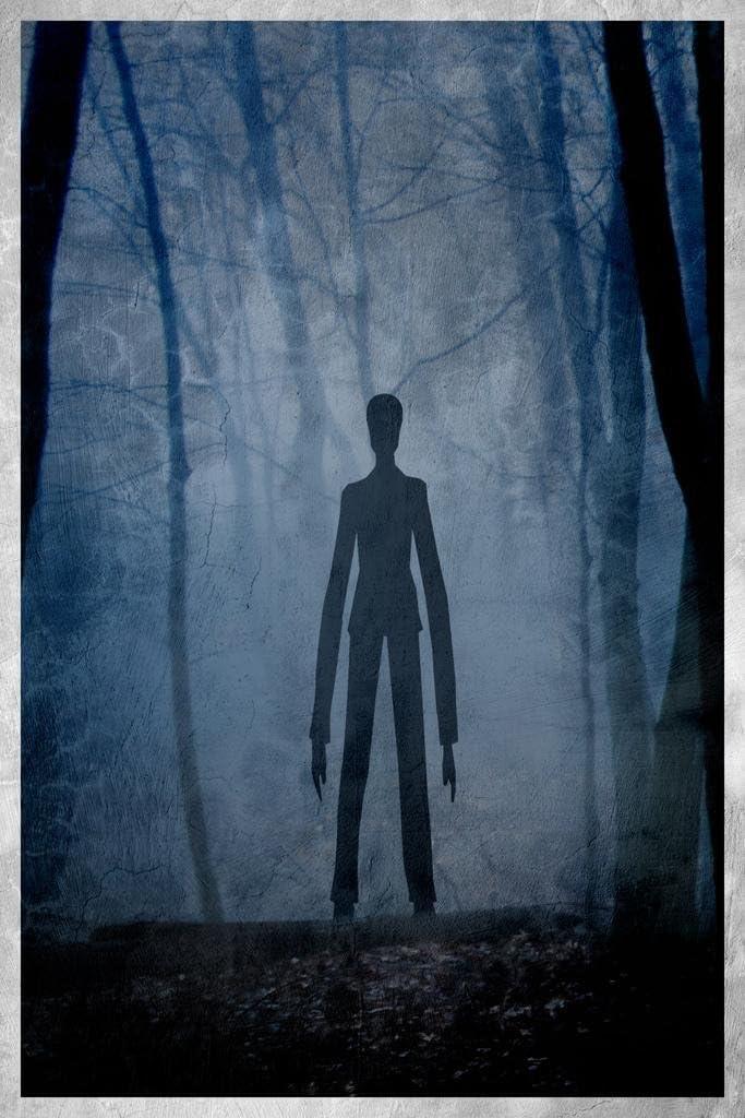 Slenderman Forest Creepy Painting Art Creepypasta Meme Spooky Scary Halloween Decorations Cool Wall Decor Art Print Poster 24x36