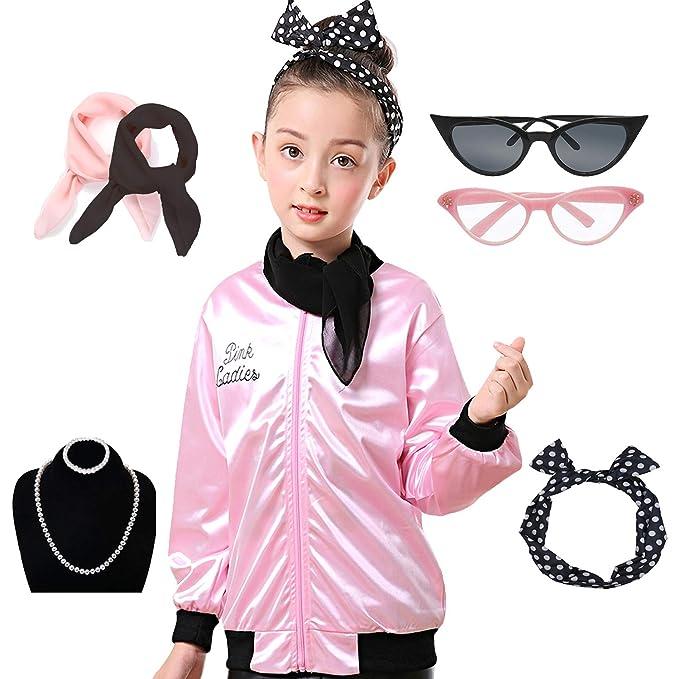 Amazon.com: 1950s - Conjunto de disfraz para niñas de 50 ...