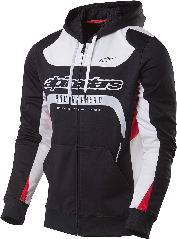 XL Alpinestars AGELESS II Fleece Zip-Up Hoody Sweatshirt X-Large Black//White