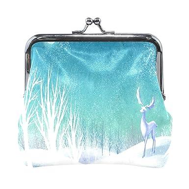 Amazon.com: Monedero de Navidad Nocturna Renos Invierno ...