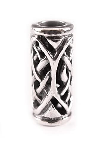 Bartperle / Dreadlockperle keltisch mit Zopfmuster aus echtem Silber