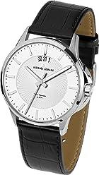 Jacques Lemans Sydney 1-1540B Mens Black Leather Strap Watch