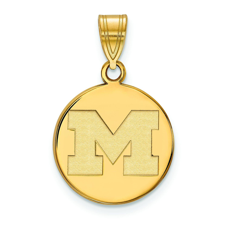 ミシガン州Medium (5 / 8インチ) ディスクペンダント(14 Kイエローゴールド) B01JAORSHE
