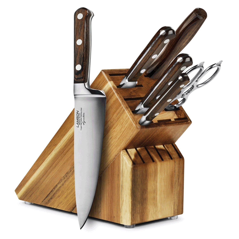 Lamson Signature 7-piece Acacia Knife Block Set