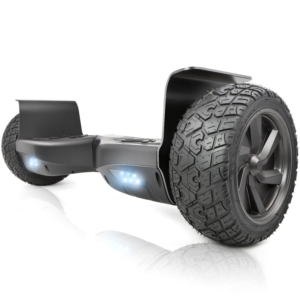 XtremepowerUS 8.5'' Off Road Hoverboard w/ Bluetooth Speaker and LED Light (Black) by XtremepowerUS