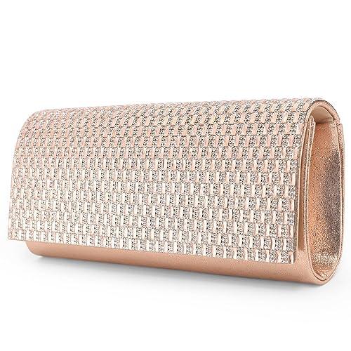 6087ac0c5d Woman Glittery Satin Clutch Bag Evening Bag Rhinestones and Slim Paillette  Decor Formal Handbag Shoulder Bag
