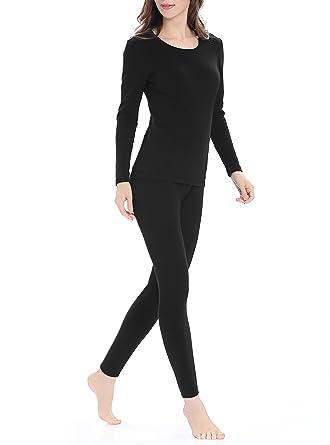 6f54184976655d Genuwin Womens Thermal Underwear Set Stretchy Ladies Long Johns Base Layer  Womens Underwear S~XL
