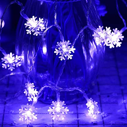 loistu 16ft 40led christmas snowflake string light string christmas party party decorative light string outdoor