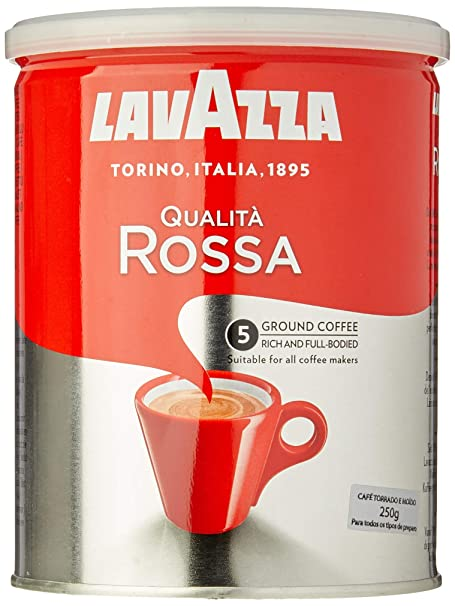 Lavazza Café Molido Espresso Qualità Rossa, Paquete de 2 Latas x ...